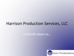 HPS Business Presentation - Harrison Production Services, LLC