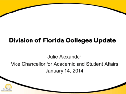 Division of Florida Colleges Update PowerPoint