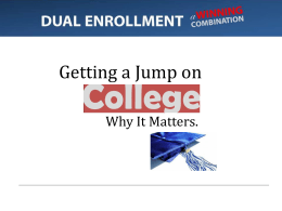 PPT Dual Enrollment DISTRIBUTED ON FLASH