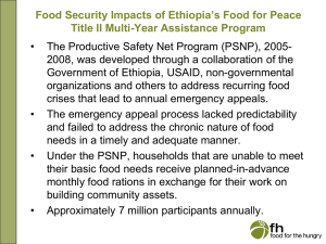 Food for the Hungry, Ethiopia 2005-8, Title II MYAP