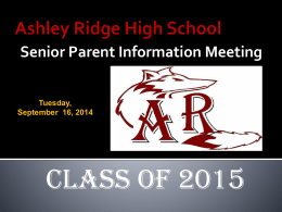 Scholarships - Ashley Ridge High School