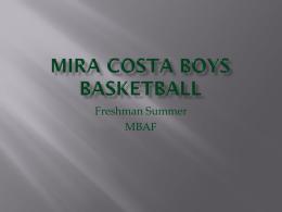 Incoming 9th Graders - MIRA COSTA BOYS BASKETBALL
