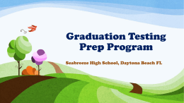 Graduation Testing Prep Program