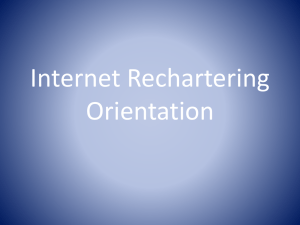 Internet Rechartering Orientation