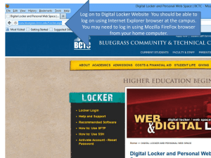 PowerPoint Presentation - Digital Locker and Personal Web Space
