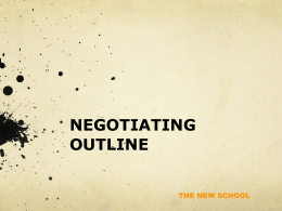 Negotiating Outline (Media Sales and Sales Management)