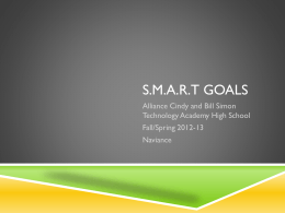 S M A R T goal PPT _1_ - Alliance Cindy & Bill Simon