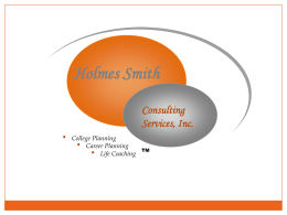 College Planning - Holmes Smith Consulting