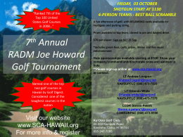 7th Annual RADM Joe Howard Golf Tournament Flyer