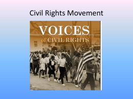 Unit 5 PPT Civil Rights Movement
