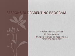 Responsible Parenting Program