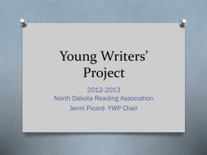 Young Writers* Project - North Dakota Reading Association