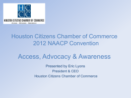 Houston Citizens Chamber of Commerce Comcast