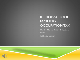 Illinois County School Facility Tax - Stewardson