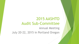 2015 AASHTO Audit Sub