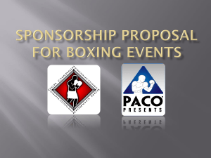 Sponsorship Proposal for Boxing Events