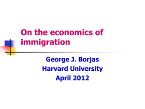 Slides for Immigration presentation