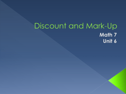 Discount and mark