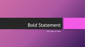 Hook - Bold Statement - Belle Vernon Area School District