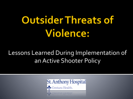 Presentation Slides - Colorado Healthcare Associated Risk Managers