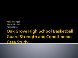High School Basketball Guard Strength and Conditioning Case Study