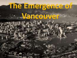 The Emergence of Vancouver and econ diversity