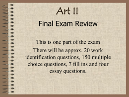 Final Exam Visual Reference Review