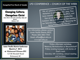 Church of the Week - Lower Pacific District EFCC