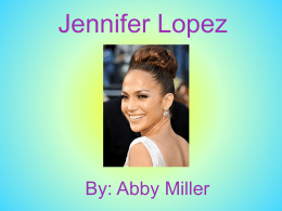 Jennifer Lopez powerpoint
