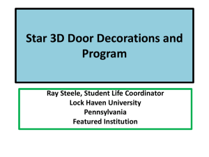 Star 3D Door Decoration and Program