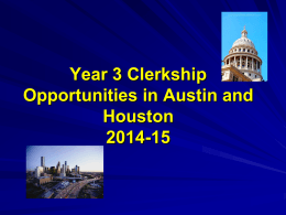 on Austin and Houston Opportunities