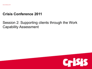 Supporting clients through the Work Capability Assessment