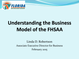 The Business of FHSAA - Florida High School Athletic Association