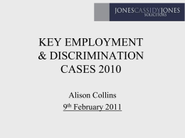 Employment and Discrimination Cases 2010