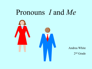 Pronouns I and Me