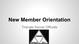 powerpoint - Triangle Soccer Referees