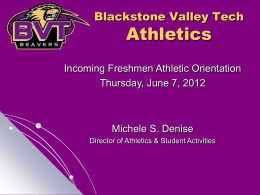 Blackstone Valley Tech Athletics
