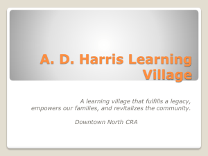 A. D. Harris Learning Village - Florida Redevelopment Association