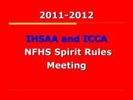 NFHS Spirit Rules 2006-2007 - Iowa High School Athletic Association