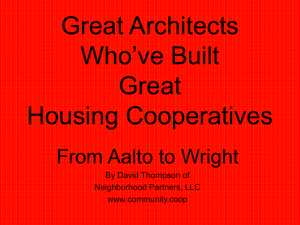 Great Architects Who`ve Built Great Housing Cooperatives