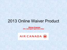 Online Waiver Product