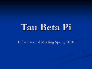 Welcome to Tau Beta Pi! - SDSU College of Engineering