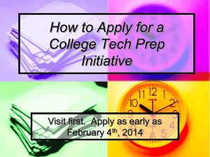 How to Apply for a College Tech Prep Program