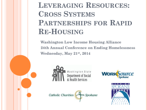 Leveraging Resources: Cross Systems Partnerships for Rapid Re