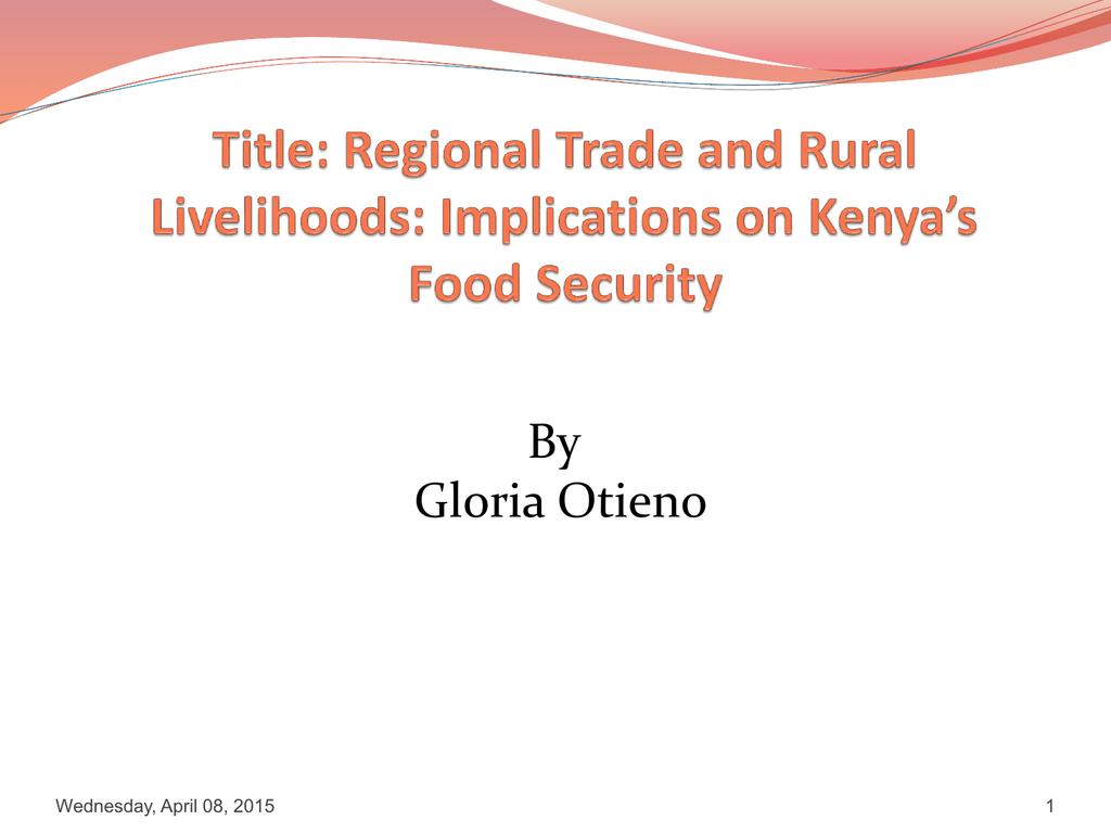 Research Proposal by Gloria A  Otieno
