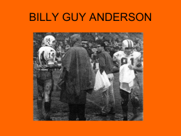Billy Guy Anderson 2013