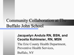 Community Collaboration at The Buffalo John School
