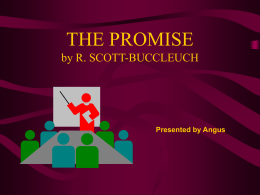 THE PROMISE by R. SCOTT