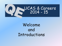 UCAS & Careers 2014/15