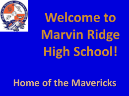 Powerpoint - Marvin Ridge High School